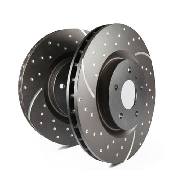 EBC GD Series Slotted And Dimpled Sport Front Brake Discs for the Ford Fiesta ST Mk8