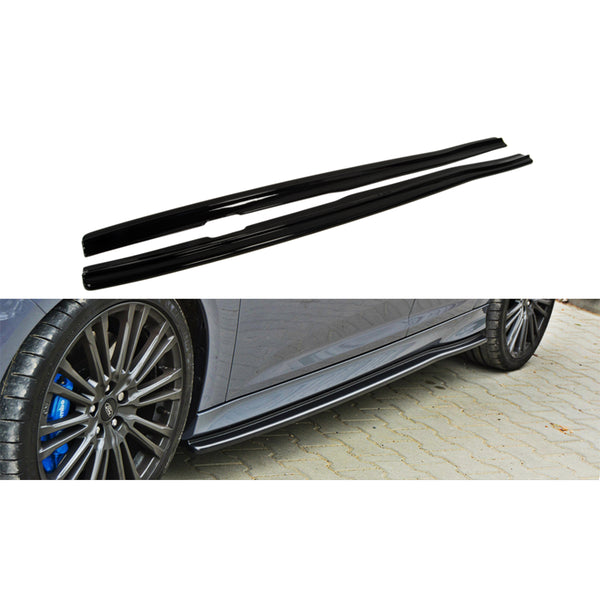 Maxton Design Side Skirts Diffusers on Focus RS Mk3