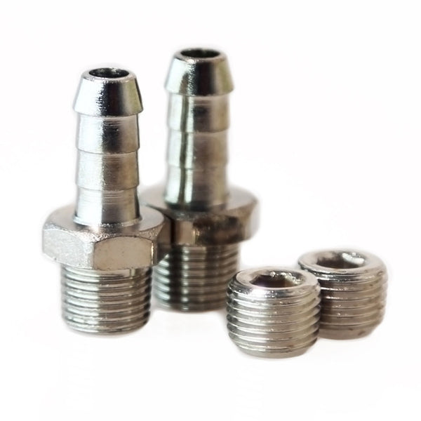 Turbosmart WG50/60 1/8NPT - 6mm Hose Tail Fittings & Blanks - AET Motorsport