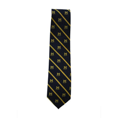 Michigan Rugby Neck Tie - Maize/Navy