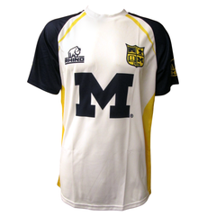 Michigan Away Replica Rhino Jersey - White/Blue