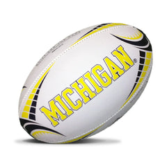 Michigan Rhino Rugby Full Size Ball - White