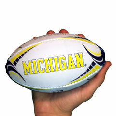 Michigan Rhino Rugby Mini Size Ball - White