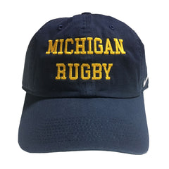 Michigan Rugby Adjustable Nike Hats - Navy