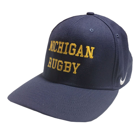 Michigan Rugby Fitted Nike Hats - Navy