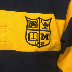 Michigan Rugby Barbarian Long Sleeve Shirts - Navy/Maize