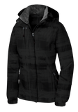T1536  Ladies Brushstroke Print Insulated Jacket