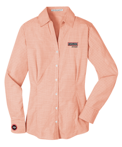 T1532W  Ladies Plaid Pattern Easy Care Shirt