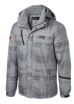 T1534  Brushstroke Print Insulated Jacket