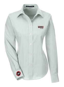T1701W Ladies Crown Collection Banker Stripe Shirt