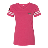 T1801W Ladies Football V-neck Fine Jersey Tee