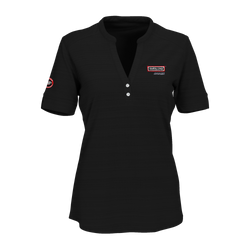 T1804W Ladies Vansport Strata Textured Henley