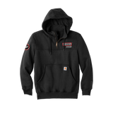 T1934 Mens Paxton Hooded Zip Mock Sweatshirt