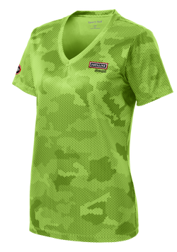 T1511W Ladies CamoHex V-neck Tee