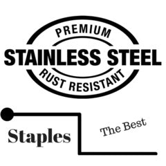 Premium stainless steel staples