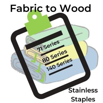 fabric to wood stapling