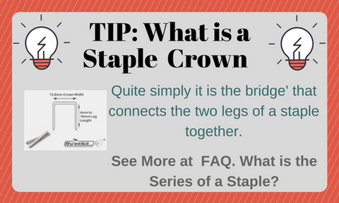 what is the crown of a staple