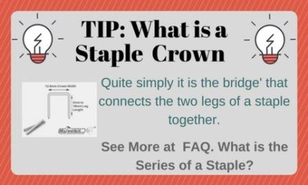 Tip: What is a staple crown?