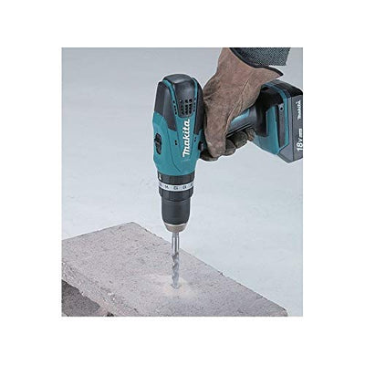 Makita drill set 18v in use
