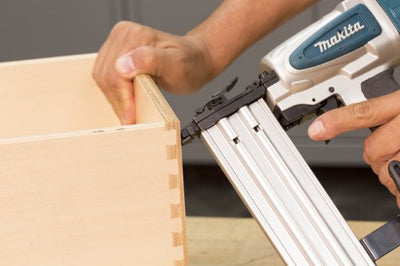 Flexible finish nailer - the Makita AF505N Brad Nailer operates  18 Gauge Nails