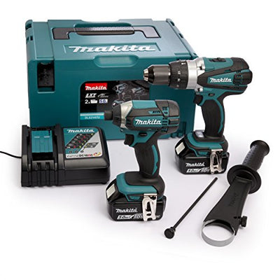 Makita DLX2145TJ Combi Drill and Impact Driver 18 V Kit  complete with all accessories
