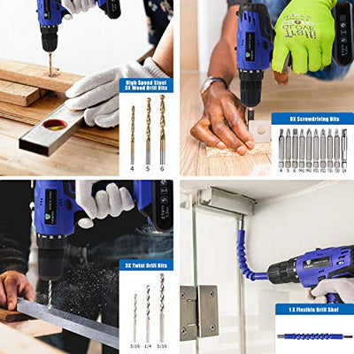 A tool set for DIY LETTON Cordless Tool Set and Drill