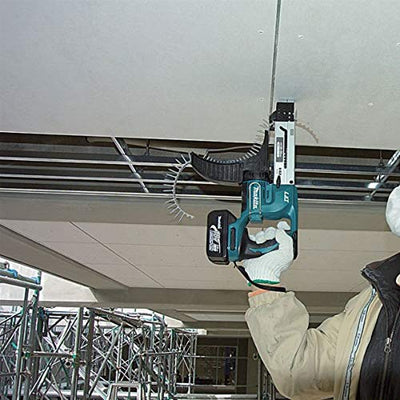 Makita DFR550Z 18V Cordless Li-Ion Auto-Feed Screwdriver operating above