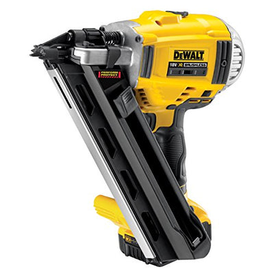 DeWalt 18V Li-Ion Cordless Brushless 90mm Framing Nailer with 2 x 5Ah Batteries