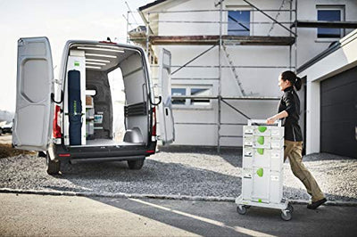 Festool Roll Board is easily transported for all Festool systainer systems