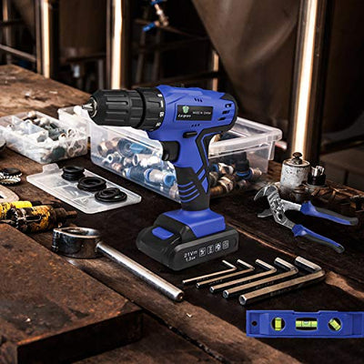 LETTON Cordless Tool Set and Drill for use in the home workshop or shed