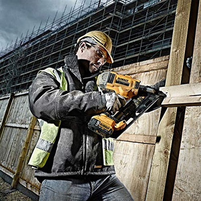 See the DeWalt 18V Li-Ion Cordless Brushless 90mm Framing Nailgun in use