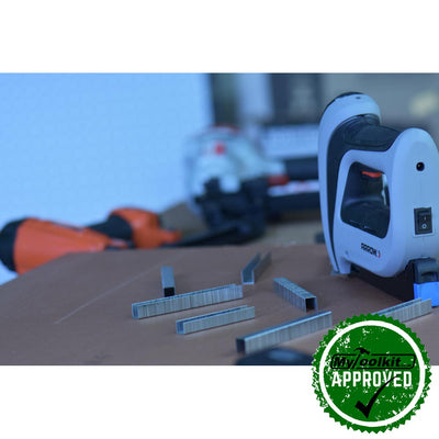 Arrow 140 Series Cordless Electric Stapler 96-12mm) T50DCD in workshop