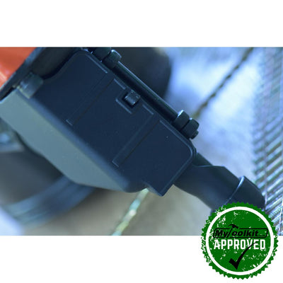 Tacwise  FCN57V flat coil nailer close up image of the  nose tip