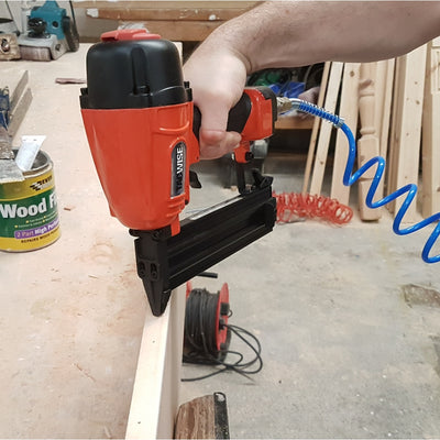 GDA64V Tacwise 15 Gauge Inclined Air Brad Nailer working in a joinery workshop