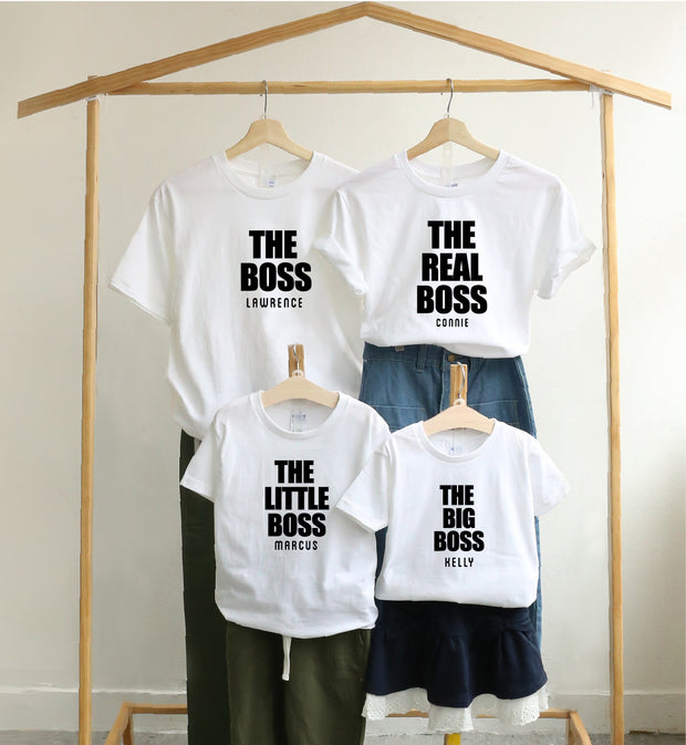 親子裝 T-shirt | The Big Boss (白色)