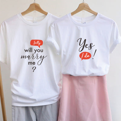 【可自由配色】情侶裝  T-Shirt  | Will You Marry me? 人名款