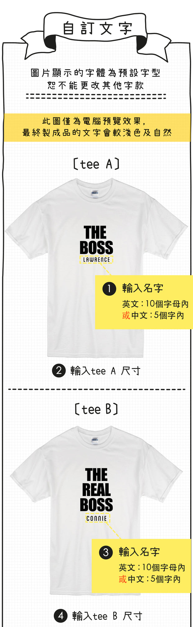 親子裝 T-shirt | The Big Boss (藏青+黑色)