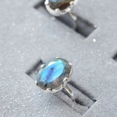 STERLING SILVER LABRADORITE FAIRYTALE RING