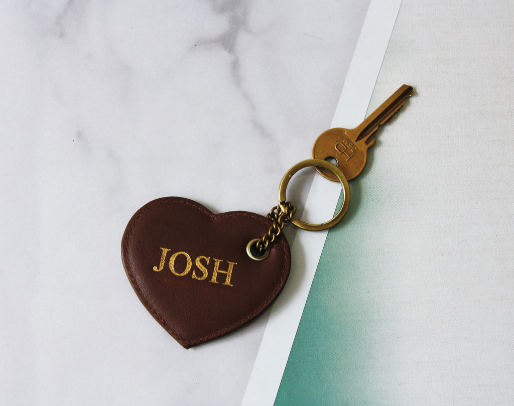 Heart Initial Keyring
