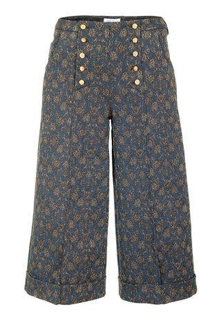 BLUE 3/4 TROUSERS