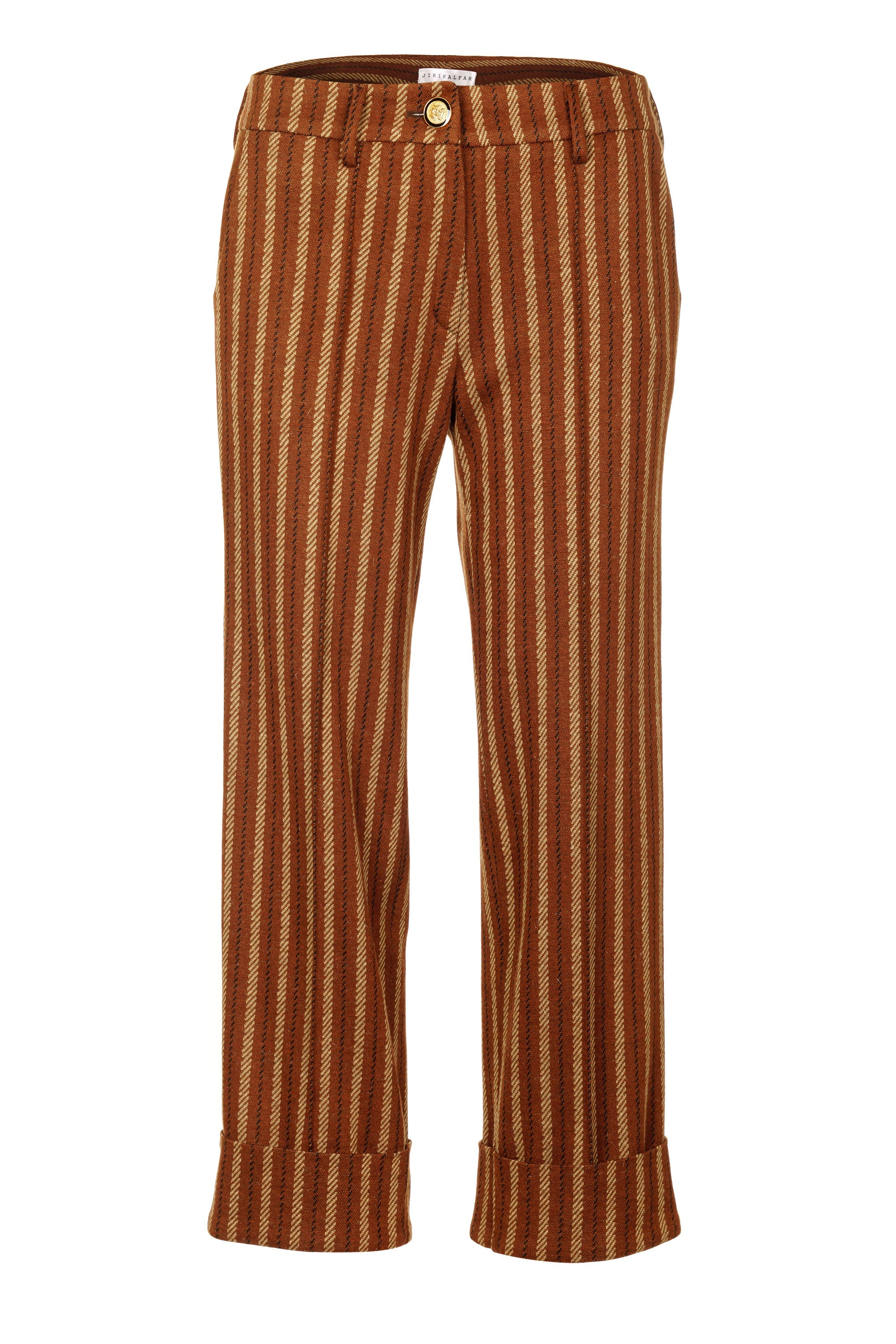 BROWN STRIPES TROUSERS