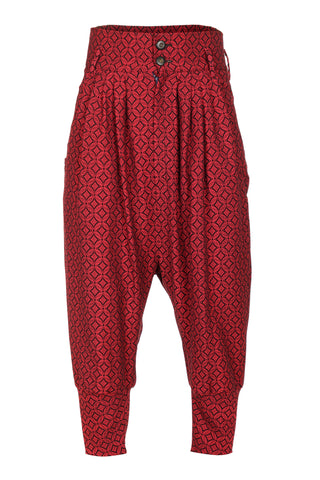RED BAGGY TROUSERS