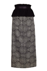 DARK BOHEMIAN PATTERN HIGH WAIST PENCIL SKIRT