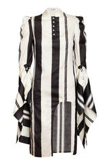 NOIR AND CRÉME STRIPE DRESS