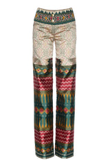 FOLK PATTERN TROUSERS