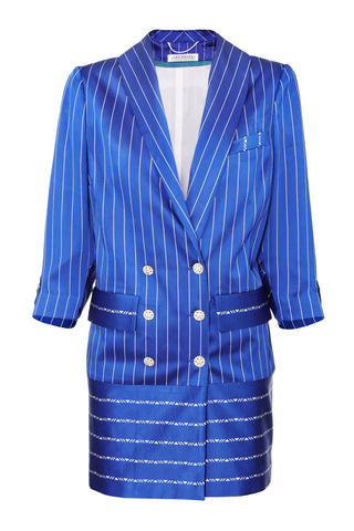 NAVY BLUE & WHITE STRIPE JACKET