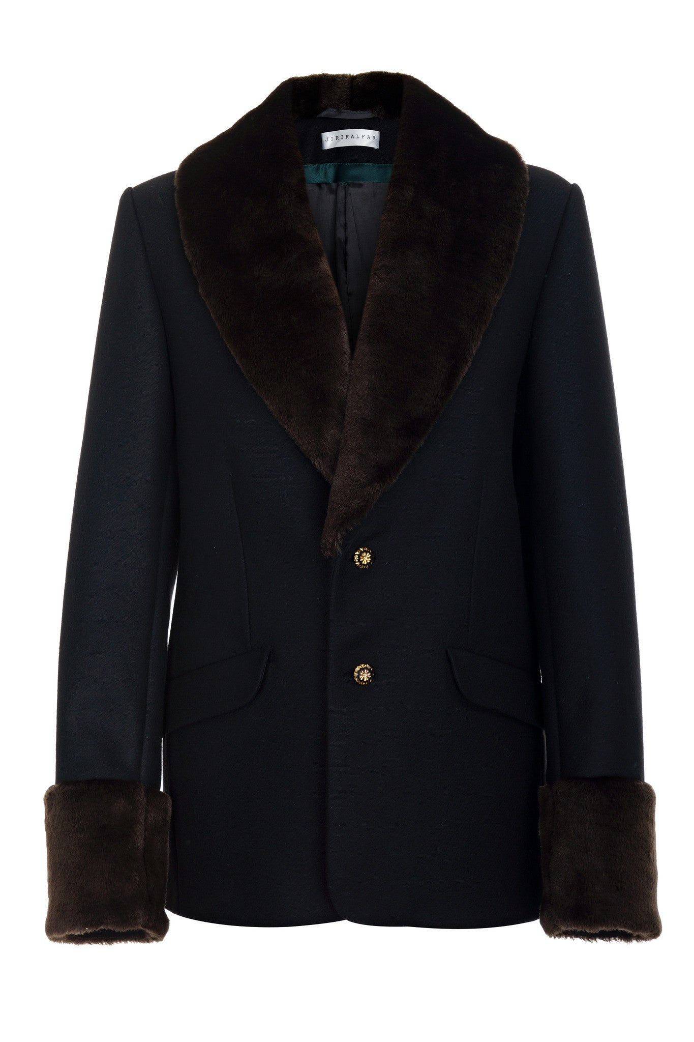FAUX-FUR JACKET SUIT