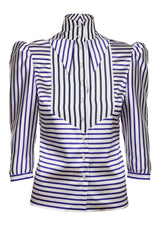 STRIPE SHIRT WITH DOUBLE COLLAR
