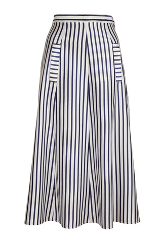 STRIPE SKIRT WITH FRONT POCKETS