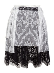 BLACK & WHITE LACE SKIRT